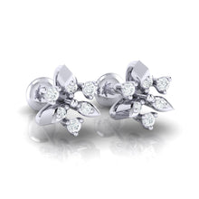 Load image into Gallery viewer, 18Kt white gold real diamond earring 38(1) by diamtrendz
