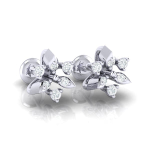 18Kt white gold real diamond earring 38(1) by diamtrendz