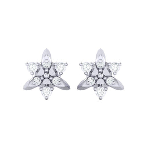 18Kt white gold real diamond earring 38(2) by diamtrendz
