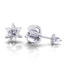 Load image into Gallery viewer, 18Kt white gold real diamond earring 38(3) by diamtrendz