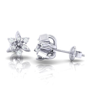 18Kt white gold real diamond earring 38(3) by diamtrendz