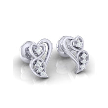 Load image into Gallery viewer, 18Kt white gold real diamond earring 39(1) by diamtrendz