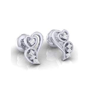 18Kt white gold real diamond earring 39(1) by diamtrendz