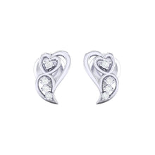 Load image into Gallery viewer, 18Kt white gold real diamond earring 39(2) by diamtrendz