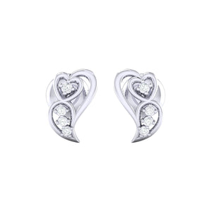 18Kt white gold real diamond earring 39(2) by diamtrendz