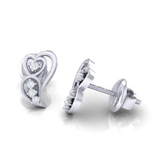 Load image into Gallery viewer, 18Kt white gold real diamond earring 39(3) by diamtrendz