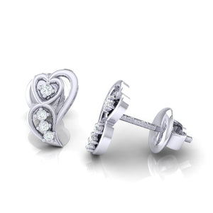 18Kt white gold real diamond earring 39(3) by diamtrendz
