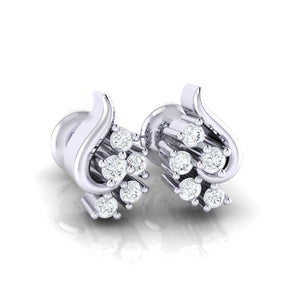 18Kt white gold real diamond earring 42(1) by diamtrendz