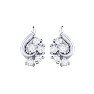 18Kt white gold real diamond earring 42(2) by diamtrendz