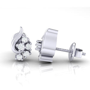18Kt white gold real diamond earring 42(3) by diamtrendz