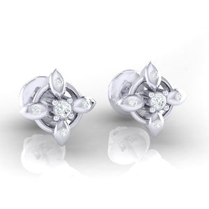 18Kt white gold real diamond earring 43(1) by diamtrendz