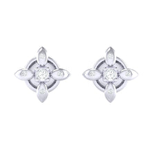 Load image into Gallery viewer, 18Kt white gold real diamond earring 43(2) by diamtrendz