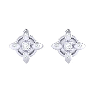 18Kt white gold real diamond earring 43(2) by diamtrendz