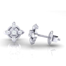 Load image into Gallery viewer, 18Kt white gold real diamond earring 43(3) by diamtrendz