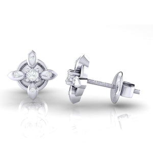 18Kt white gold real diamond earring 43(3) by diamtrendz