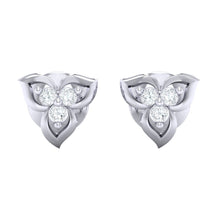 Load image into Gallery viewer, 18Kt white gold real diamond earring 44(2) by diamtrendz