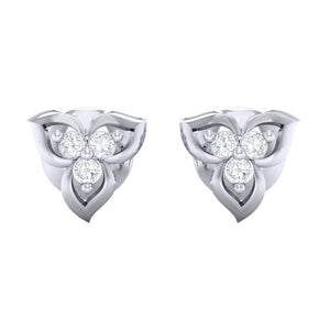18Kt white gold real diamond earring 44(2) by diamtrendz