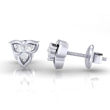 Load image into Gallery viewer, 18Kt white gold real diamond earring 44(3) by diamtrendz
