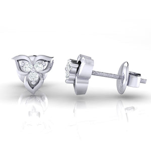 18Kt white gold real diamond earring 44(3) by diamtrendz