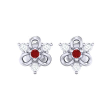 Load image into Gallery viewer, 18Kt white gold real diamond earring 45(2) by diamtrendz