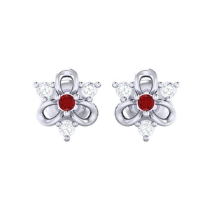 18Kt white gold real diamond earring 45(2) by diamtrendz