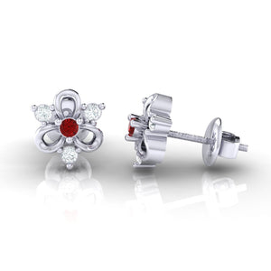 18Kt white gold real diamond earring 45(3) by diamtrendz