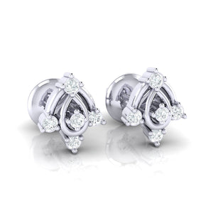 18Kt white gold real diamond earring 46(1) by diamtrendz