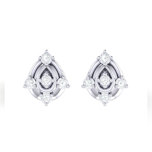 18Kt white gold real diamond earring 46(2) by diamtrendz