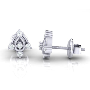 18Kt white gold real diamond earring 46(3) by diamtrendz