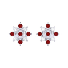 Load image into Gallery viewer, 18Kt white gold real diamond earring 47(2) by diamtrendz