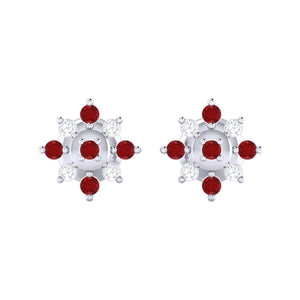 18Kt white gold real diamond earring 47(2) by diamtrendz