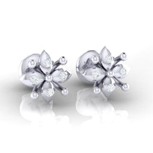 Load image into Gallery viewer, 18Kt white gold real diamond earring 48(1) by diamtrendz