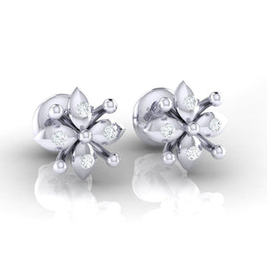 18Kt white gold real diamond earring 48(1) by diamtrendz