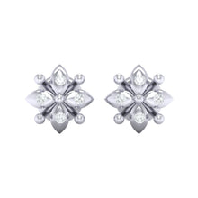 Load image into Gallery viewer, 18Kt white gold real diamond earring 48(2) by diamtrendz