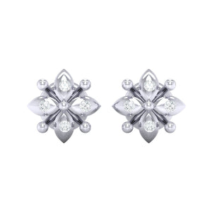 18Kt white gold real diamond earring 48(2) by diamtrendz