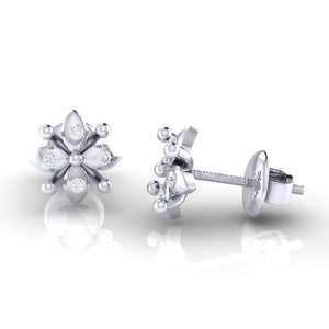 18Kt white gold real diamond earring 48(3) by diamtrendz