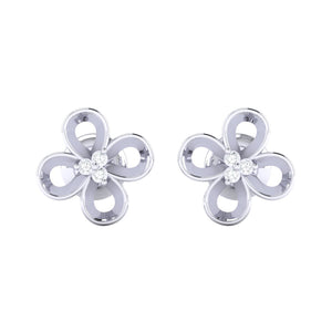 18Kt white gold real diamond earring 49(2) by diamtrendz