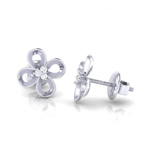 18Kt white gold real diamond earring 49(3) by diamtrendz