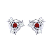 Load image into Gallery viewer, 18Kt white gold real diamond earring 50(2) by diamtrendz