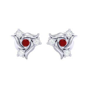 18Kt white gold real diamond earring 50(2) by diamtrendz