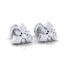 Load image into Gallery viewer, 18Kt white gold real diamond earring 51(1) by diamtrendz