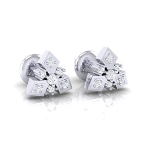 18Kt white gold real diamond earring 51(1) by diamtrendz