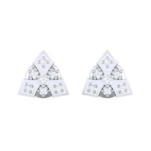 18Kt white gold real diamond earring 51(2) by diamtrendz