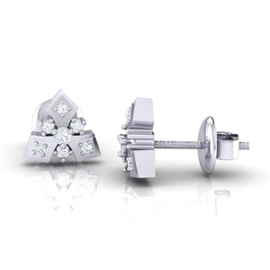 18Kt white gold real diamond earring 51(3) by diamtrendz