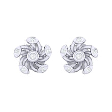 Load image into Gallery viewer, 18Kt white gold real diamond stud earring 52(2) by diamtrendz