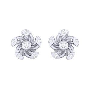 18Kt white gold real diamond stud earring 52(2) by diamtrendz