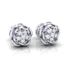 Load image into Gallery viewer, 18Kt white gold real diamond stud earring 53(1) by diamtrendz