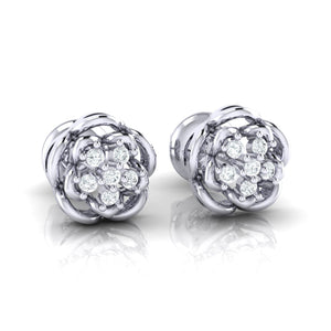 18Kt white gold real diamond stud earring 53(1) by diamtrendz