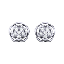 Load image into Gallery viewer, 18Kt white gold real diamond stud earring 53(2) by diamtrendz