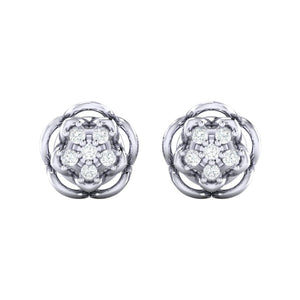 18Kt white gold real diamond stud earring 53(2) by diamtrendz